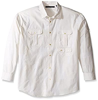 Sean John Men's Big and Tall Long Sleeve Flight Linen Shirt