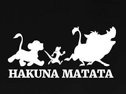 Image Unavailable. Image not available for. Color  Hakuna Matata Lion King  Decal Vinyl Sticker   Cars Trucks Vans Walls Laptop ... 80d767e70f