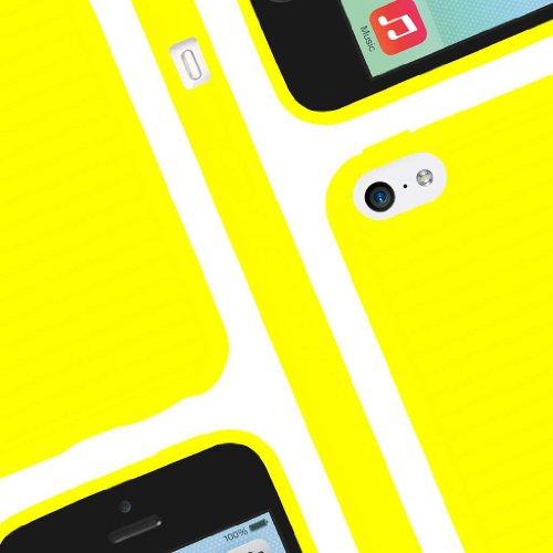 EMPIRE GRUVE Full Protecteur TPU Case Étui Coque for Apple iPhone 5C - Jaune (Films de protection d'
