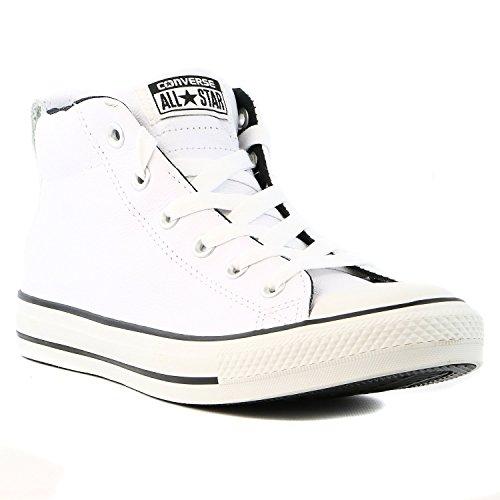 Converse Chuck Taylor All Star Street Mid Fashion Zapatilla–Hombre Blanco/Negro