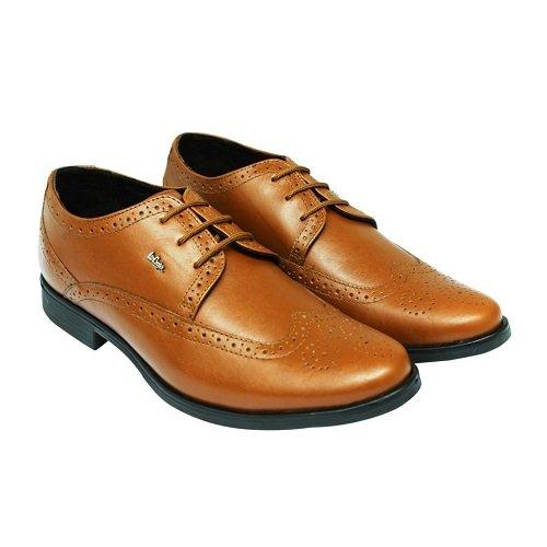 72fd809139c7 Lee Cooper Men s Tan Leather Formal Shoes - 8 UK India (42 EU)  Buy ...