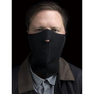 Zanheadgear 3-Panel Neoprene Half Face Mask, Black: Automotive
