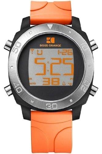 c69038828e0e Hugo Boss Orange Digital Dial Orange Rubber Strap Mens Watch 1512674 ...
