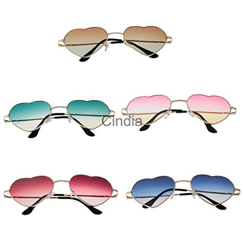 VIPASNAM-5pcs/ Lot Metal Heart Full Rim Sunglasses Retro Fashion Outdoor - Audrey Black Baby Sunglasses Celine