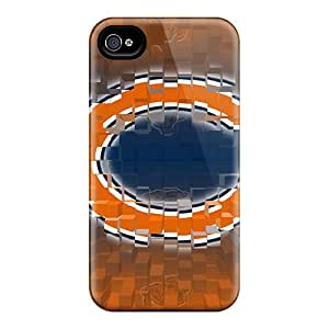 Perfect Hard Phone Case For Apple Iphone 4/4s With Provide Private Custom Beautiful Chicago Bears Pictures TrevorBahri