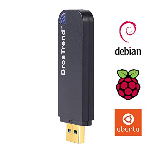 BrosTrend 1200Mbps Linux USB Wireless Adapter, Dual Band 5GHz/867Mbps+2.4GHz/300Mbps, Ubuntu, Mint, Debian, Kali, Lubuntu, Xubuntu, Zorin, Raspbian, Raspberry Pi 2+, Windows 10/7 Desktop Laptop USB3.0 (Best Laptop For Kali Linux)