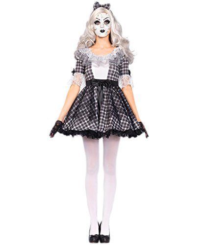 Sexy Dead Costume - Halloween Women Pretty Porcelain Doll Costume