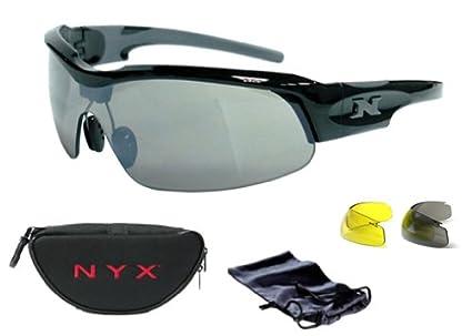 9a1f618870a Amazon.com  NYX PRO Z 17 3 Lens Sunglass (Black Gray)  Sports   Outdoors