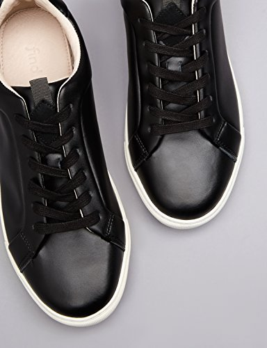 Black FIND en Cuir Noir Baskets Homme Basses YppqrC0f