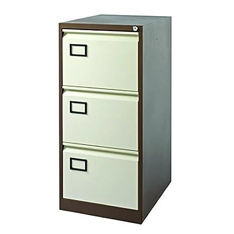 Jemini 3 cajón archivador kf03004, Metal, café Crema, 62,2 x ...