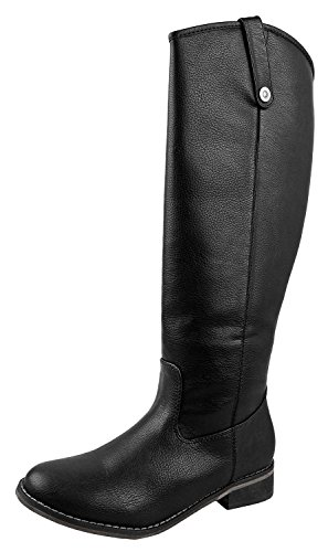 - Breckelle's Rider-18 Womens Classic Knee High Riding Boots Black 5.5