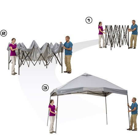 Ozark Trail 12' x 12' 144 sq. ft. Instant Setup Canopy, provides 50+ UV protection (Light Grey) by OZARK