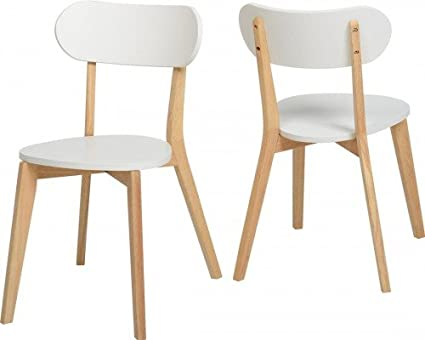 Superb Julian Stacking Dining Chair Set Of 2 Modern White Natural Machost Co Dining Chair Design Ideas Machostcouk