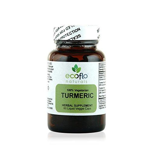 (Ecoflo Naturals - Turmeric, 60 Liquid Veggie Caps)