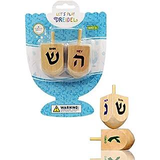 Let's Play Dreidel The Hanukkah Game 2 Extra Large Wood Dreidels Instructions Included