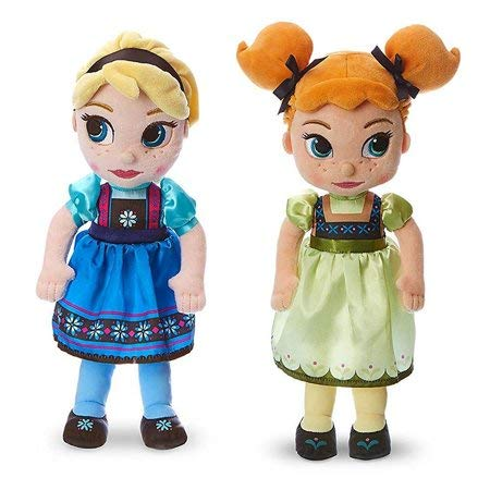 Animators Collection Elsa and Anna Plush Doll by The Disney Store
