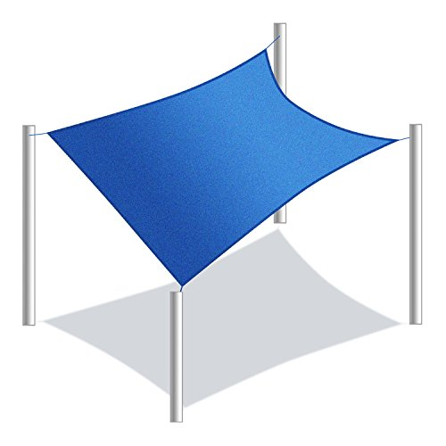 Price comparison product image ALEKO SS03REC10X10BL Sun Shade Sail Square Water Resistant Canopy Tent Replacement for Yard Patio Pool 10 x 10 Feet Blue