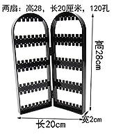 Acturen Creative Screen Jewelry Rack 120 Holes Plastic Ear Nails Earrings Display Frame Receiving Box Home Furnishing 1pc C171