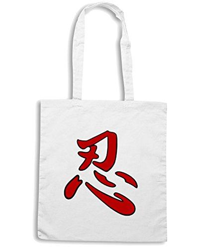 T-Shirtshock - Bolsa para la compra TAM0141 Ninjutsu Blanco
