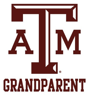 Texas A&M Aggies GRANDPARENT Clear Vinyl Decal Car Truck Sticker aTm TAM