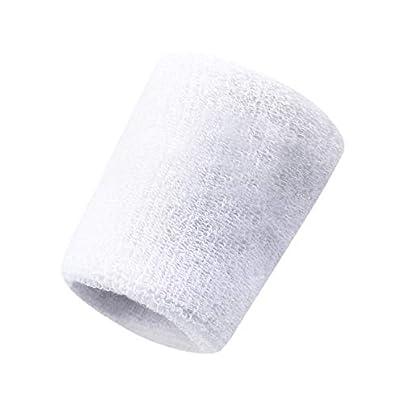 Sunonip Cotton Sweat Sports Basketball Wristband Badminton Tennis Gym Sports Exercise Estimated Price £8.19 -