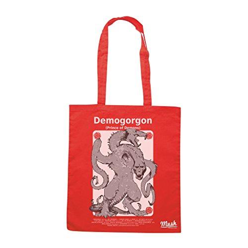 Borsa DEMOGORGON D&D CARD - Rossa - FILM by Mush Dress Your Style