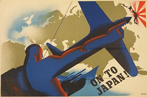 (1943 WW2 WWii America Britain Allied Anti Aircraft Attack Japan Asia Pacific War Map Propaganda Postcard)