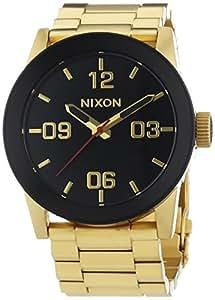 Nixon Private SS All Gold Black - Reloj de cuarzo para hombre, correa de acero inoxidable color dorado