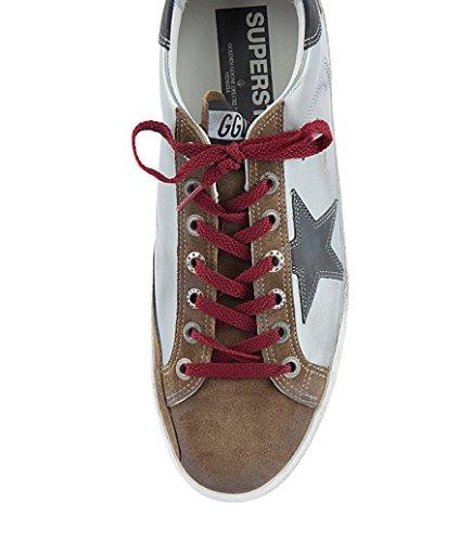 Pelle marrone Golden G32ms590f31 Goose Argento Sneakers Uomo xqZUqvn