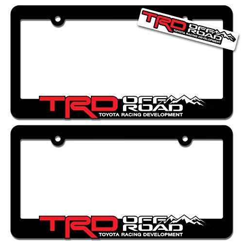 toyota license plate frame black - 3