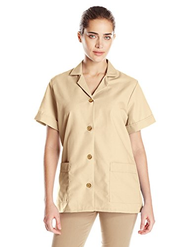 Red Kap Women's Button Front Tunic, Tan, X-Large
