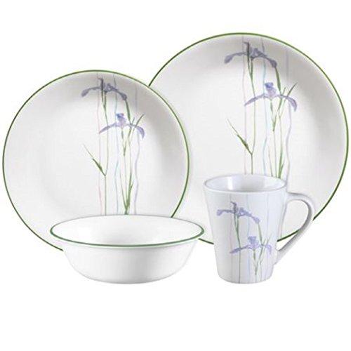 Corelle Impressions Shadow Iris 16-pc Dinnerware Set WITH BUTTER DISH , SUGAR & CREAMER, GRAVY BOAT AND SALT & PAPER , CorningWare Stovetop Pyroceram Shadow Iris 1.5L Casserole