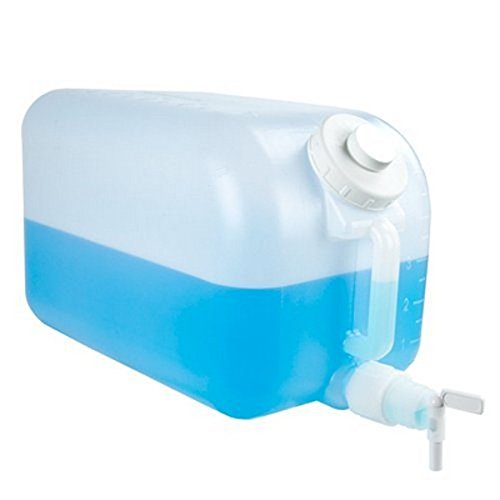 Tolco 5 Gallon Plastic Dispenser Carboy with Spigot, HDPE, Natural