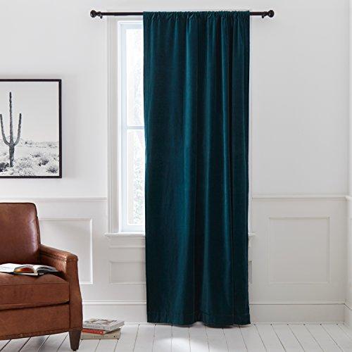 Stone & Beam Room Darkening Modern Cotton Velvet Curtain, One Panel,  52