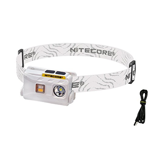 (Nitecore NU25 360 Lumen Triple Output - White, Red, High CRI - Lightweight USB Rechargeable Headlamp (White))