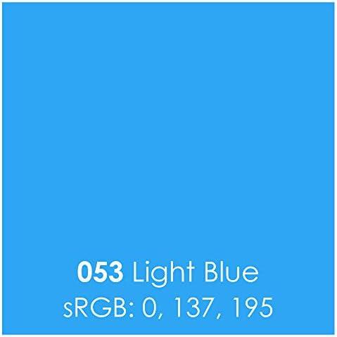 Oracal 651 Glossy Permanent Vinyl 12 Inch x 6 Feet - Light Blue / Oracal 651 Glossy Permanent Vinyl 12 Inch x 6 Feet - Light Blue