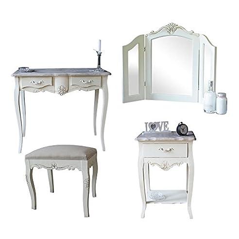 nachttisch mit spiegel mirto kommode mit schubladen von. Black Bedroom Furniture Sets. Home Design Ideas