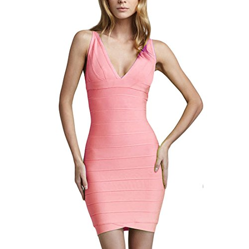 Missmay-Womens-Low-Cut-Sexy-Womens-Bodycon-Cocktail-Party-Bandage-Dress