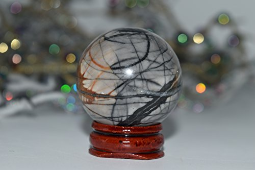 Planet Pleasures Eye Cluster (Picasso Jasper Crystal Sphere 40mm - Reiki, Healing, Meditation, Crystal Grid, Pagan, Wicca, Spells,)