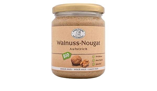 Nürnberger bio Originale walnussi Blanco - Nogal de nugat Krem bio Pan nussig untar, 1er Pack (1 x 0.25 kg): Amazon.es: Alimentación y bebidas