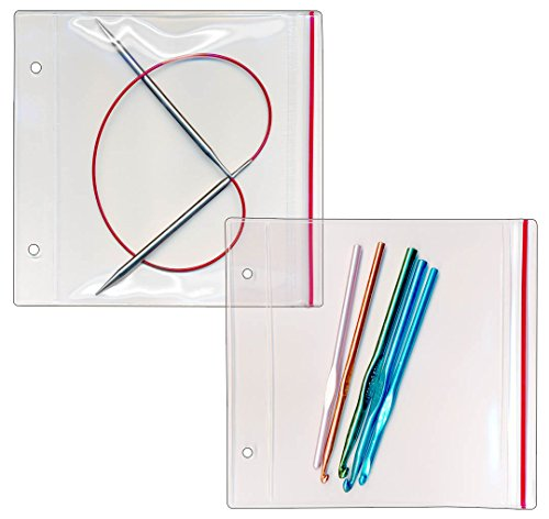 StoreSMART - Zipper Case for your Circular Knitting Needles - 50-Pack - 6 1/2'' x 5'' - R2803-KNIT-50 by STORE SMART (Image #1)