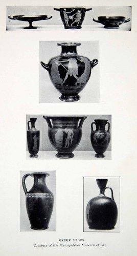 1925 Print Ancient Greek Vases Amphora Pottery Scene Decorative Figures Culture - Original Halftone Print from PeriodPaper LLC-Collectible Original Print Archive
