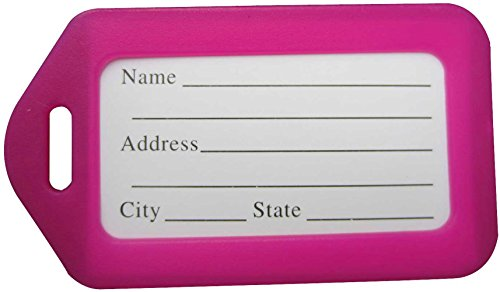 Luggage Tags-LeBeila 20 Pack Luggage Identifiers Plastic ID Name Luggage Tags Holders...