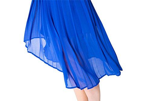 Jollychic - Vestido - trapecio - Sin mangas - para mujer Azul
