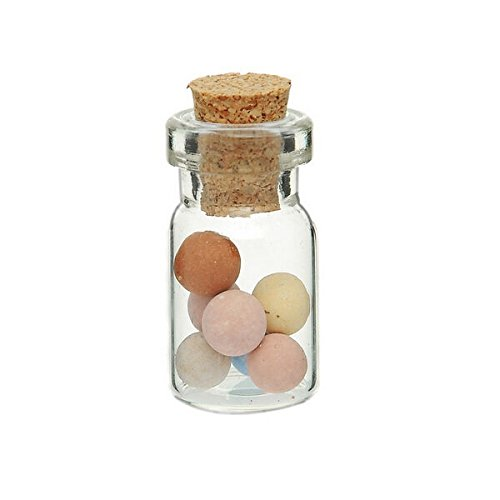 10pcs Clear Empty Cork Message Glass Bottles Vial for Gifts by QOJA