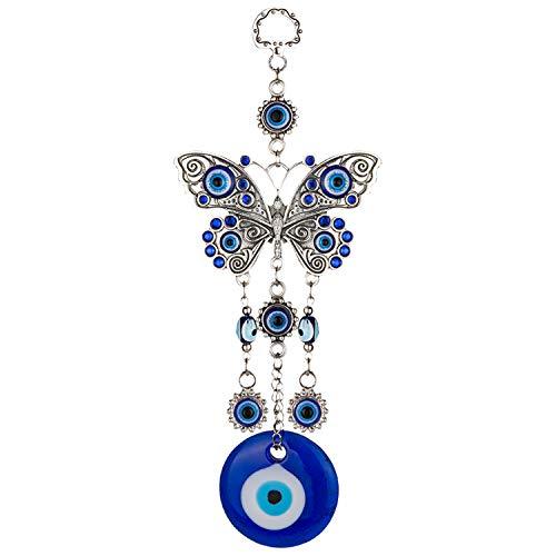 Amazon.com: ME9UE - Colgante de mariposa de ojo azul de 7,65 ...