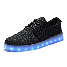 COODO Men and Women's LED Shoes Flashing Light up Sneakers
