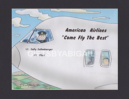 Pilot Gift Personalized Custom Cartoon Print 8x10, 9x12 Magnet or Keychain by giftsbyabigail
