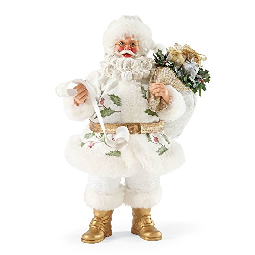"""Department 56 Possible Dreams Santa Claus """"The Holly And The Ivy"""" Clothtique Christmas Figurine (56 Dreams Santa Possible)"""