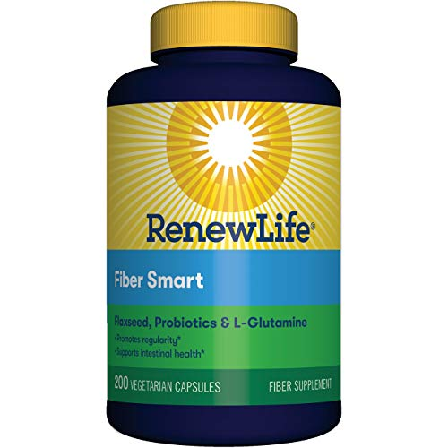 Renew Life Adult Fiber Supplement - Organic Clear Fiber, Dietary Fiber - 200 Vegetable Capsules (Packaging May Vary)